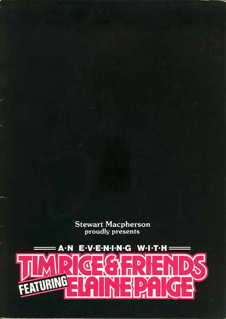 Tim Rice and Friends (Musical), Elaine Paige, Tommy Korberg -  Australian Tour 1986