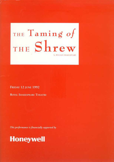 The Taming of the Shrew (Play), John McAndrew, Richard McCabe, Trevor Martin - RSC 1991-1992 Season Directed by Bill Alexander, Theatre memorabilia, broadway memorabilia