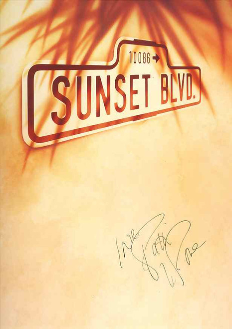 Sunset Boulevard (Musical), Patti LuPone, Kevin Anderson, Daniel Benzali, 1993 Production at the Adelphi Theatre London,  book and lyrics by Don Black and Christopher Hampton and music by Andrew Lloyd Webber, Sunset Boulevard Program, Sunset Boulevard Memorabilia