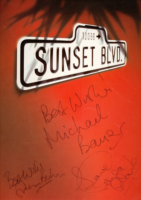 Sunset Boulevard (Musical), Petula Clark, Graham Bickley, Michael Bauer, Fiona Sinnott, 1996 UK Production, Sunset Boulevard Memorabilia, Sunset Boulevard Programs