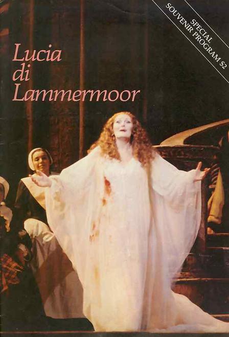 Lucia di Lammermoor (Opera), Joan Sutherland - The Australian Opera in the Sydney Domain Australia, Sat 14th January 1984