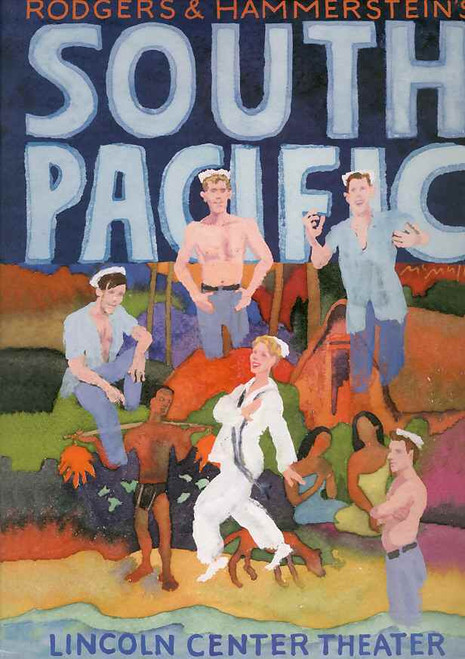 South Pacific (Musical), Kelli O'Hara, Paulo Szot, Danny Burstein, Matthew Morrison - 2008 Broadway Production
