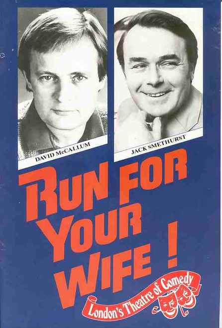 Run For Your Wife (Play), David McCallum, Jack Smethurst, Katy Manning, Paul Mason, 1987 Australian Production