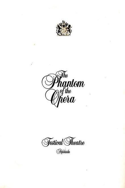 The Phantom of the Opera (Musical), Rob Guest, Danielle Everett, John Bowles, 1997 Australian Production Adelaide