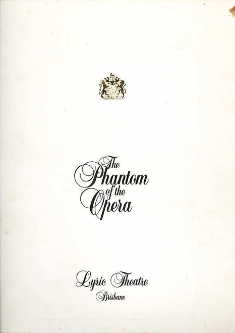 The Phantom of the Opera (Musical), Rob Guest, Danielle Everett, John Bowles, 1996Australian Production Brisbane