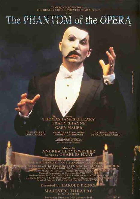 The Phantom of the Opera (Musical), Thomas James O'Leary, Tracey Shayne - 10th Birthday 26 January 1998 Broadway Production