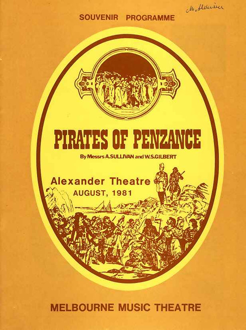 The Pirates of Penzance (Opera), Dennis Olsen, Norman Yemm, Janette Kearns, 1981 Alexander Theatre Melbourne Australia