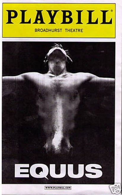 Equus is a play by Peter Shaffer written in 1973, telling the story of a psychiatrist who attempts to treat a young man who has a pathological religious/sexual fascination with horses.
