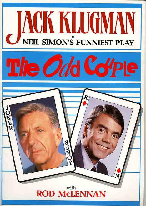 The Odd Couple (Play), Jack Klugman, Rod McLennan, Len Kaserman, 1984 Australian Production Her Majesty's Theatre Melbourne
