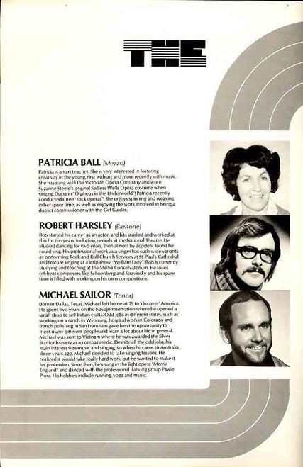 A Night to Remember (Variety), Suzanne Steele, Gerald Stern, John Lidgerwood, Noel Mitchell, Theatre Royal Sydney 1976