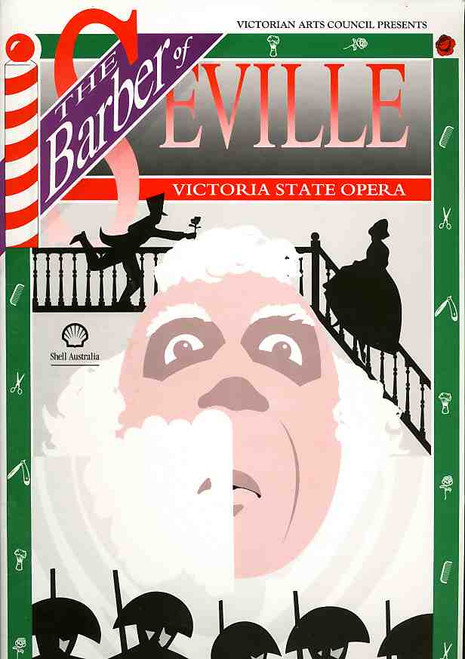 The Barber of Seville (Opera), Kerry Henderson, Lucas de Jong, Michael Terry, 1990 Production at the Monash University Alexander Theatre with Victoria State Opera Chorus and and Rantos Collegium Orchestra