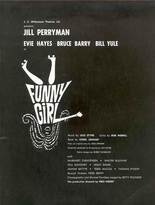 Funny Girl (Musical), Jill Perryman, Evie Hayes, Bruce Barry, Bill Yule, 1966 Australian Production Sydney Season
