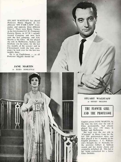 My Fair Lady (Musical), Stuart Wagstaff, Jane Martin, Richard Walker, Kenneth Laird - 1960 Australian Production