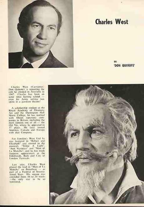 Man of La Mancha (Musical), Charles West, Suzanne Steele, Robert Healey, 1971 Australian Sydney Season