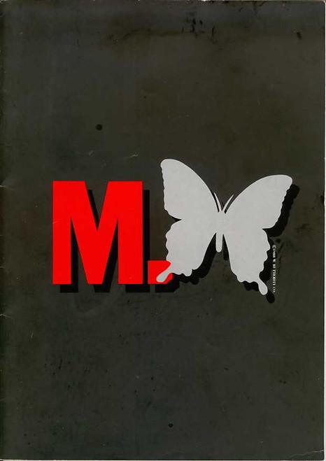 M Butterfly (Play), Peter Egan, Elizabeth Counsell, Ian Redford, John Arnatt, UK Production 1989