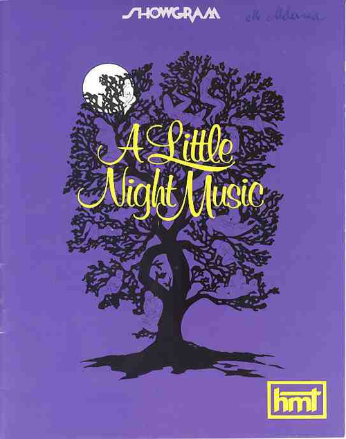A Little Night Music (Musical), Taina Elg, Bruce BArry, Anna Russell, Jill Perryman, 1974 Melbourne Australia