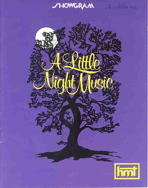 A Little Night Music (Musical), Taina Elg, Bruce BArry, Anna Russell, Jill Perryman, 1974 Melbourne Australia