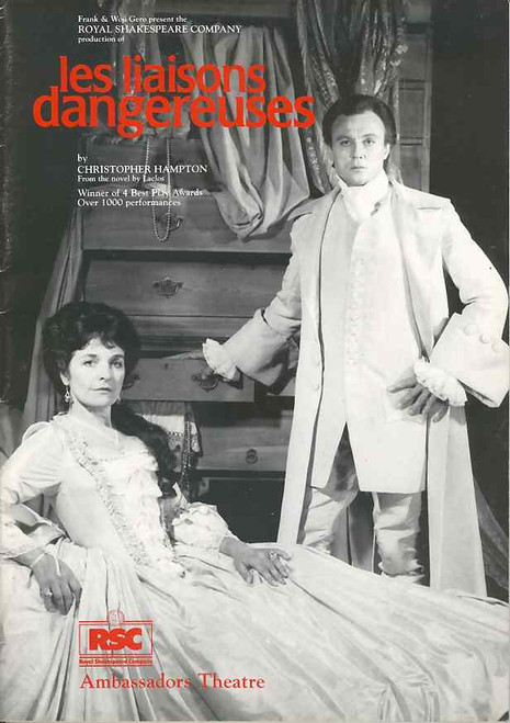Les Liaisons Dangereuses (Play), Julien Ball, Polly Irvin, Kate Dyson, Royal Shakespeare Company production London 1986