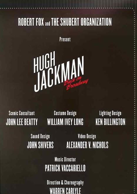 Hugh Jackman Back on Broadway (Musical), Broadhurst Theatre 2011 Broadway, Hugh Jackman Program, Souvenir Brochure
