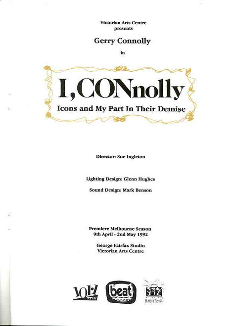I, Connolly (Comedy), Starring Gerry Connolly - Australian 1992 Production