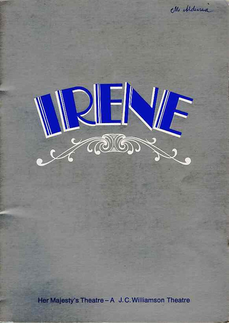 Irene (Musical), Julie Anthony, Noel Ferrier, Robert Colman, Maggie Kirkpatrick, 1974 Australian Production Melbourne