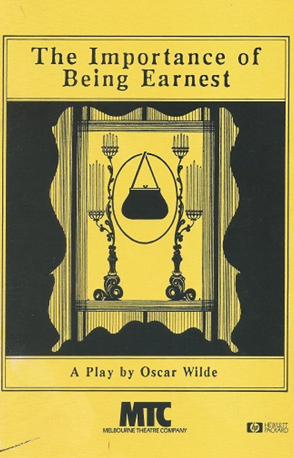 The Importance of Being Earnest (Play), Ruth Cracknell, Bob Hornery, Gordon Chater - Melbourne Theatre Company's 1990 Australia, The Importance of Being Earnest, A Trivial Comedy for Serious People is a play by Oscar Wilde