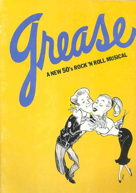 Grease (Musical), musical by Jim Jacobs and Warren Casey 1972 USA Tour, grease program, grease memorabilia