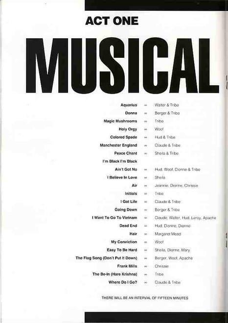 Hair (Musical), David Argue, Carrie Barr, Leslie Barlow, Nikki Bennett, Nick Carrafa, Australian 1991 Production