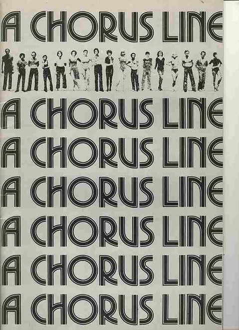 A Chorus Line (Musical), David Atkins, Tony Bartuccio, Peita Toppano, Greg Sims - 1977 Sydney Her Majesty's Theatre, A Chorus Line is a musical about Broadway dancers auditioning for spots on a chorus line