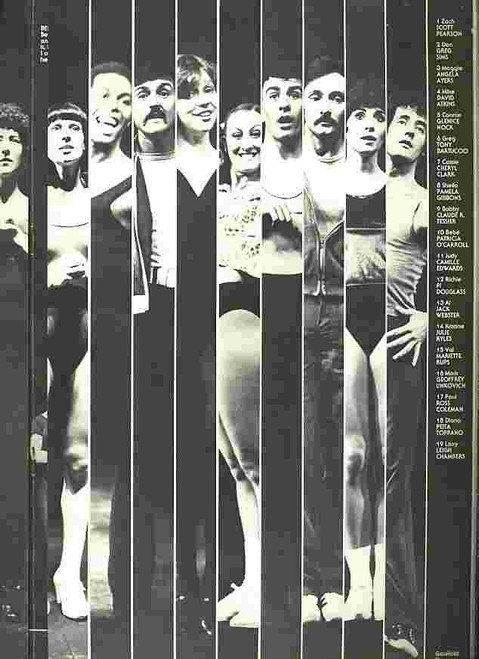 A Chorus Line (Musical), Souvenir Brochure, Cast: David Atkins, Tony Bartuccio, Peita Toppano, Greg Sims, Joel Rogo 1977 - Sydney Her Majesty's Theatre, A Chorus Line is a musical about Broadway dancers auditioning for spots on a chorus line