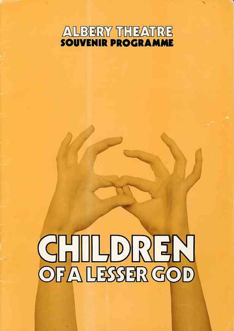 Children of a Lesser God (Play),  Trevor Eve, Elizabeth Quinn - 1982 London Production