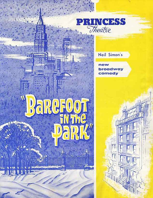 Barefoot in the Park (Play), Princess Theatre Melbourne Australia 1964 Season, Lee Kurty, Ed Griffith, Dee Victor, Eric Reiman
