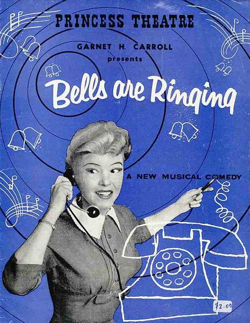 Bells are Ringing (Musical), Shani Wallis, Bruce Trent, Gabor Baraker, Kay Eklund, Australian Tour 1958