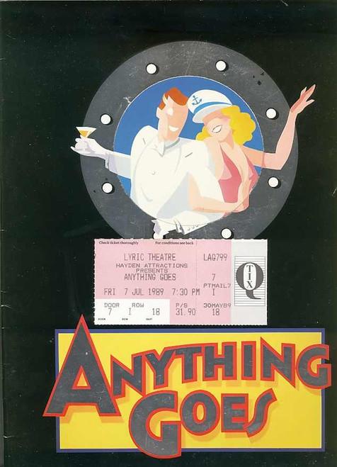 Anything Goes (Musical), 1989 Geraldine Turner, Simon Burke, Peter Whitford, Grant Dodwell, Maggie Kirkpatrick, Marina Prior - Australian Season