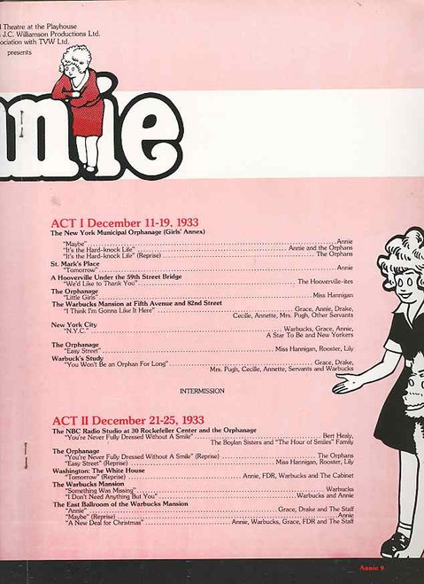 Annie (Musical) 2000 Australian Tour Anthony Warlow, Amanda Muggleton, Jane Scali, Philip Gould, Annie is a Broadway musical based upon the popular Harold Gray comic strip Little Orphan Annie