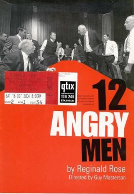 12 Angry Men (Play) Rob Meldrum, Shane Bourne, George Kapiniaris - 2004 Australian Production, Twelve Angry Men is a play by Reginald Rose