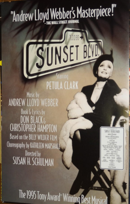 Sunset Boulevard 2 (Musical) US Tour 1998, Starring Petula Clark, Lewis Cleale, Sarah Uriarte Berry, Allen Fitzpatrick, Poster / Window Card