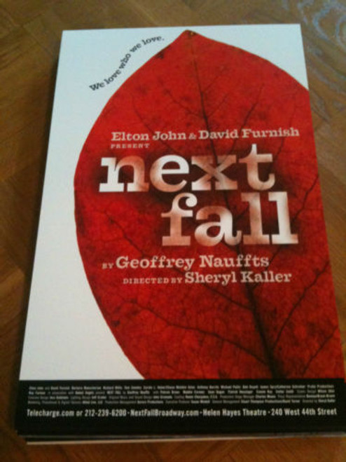 Next Fall (Play) Patrick Breen, Sean Dugan, Maddie Corman  (2010), Poster / Window Card