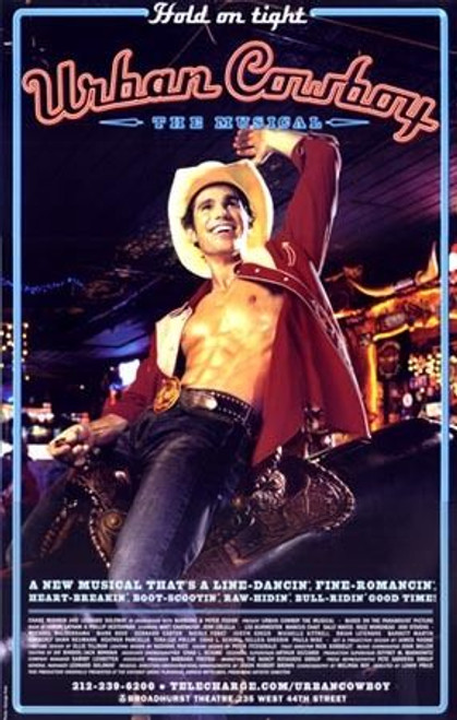 Urban Cowboy (Musical) Poster, Matt Cavenaugh, Jenn Colella (2003), Poster / Window Card
