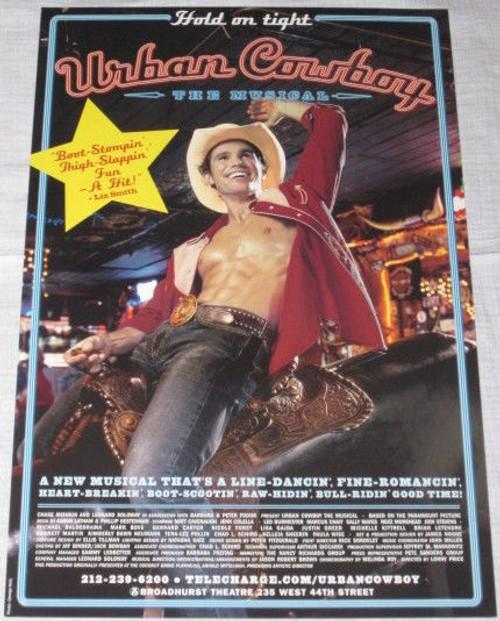 "Urban Cowboy (Musical) Poster ""Bout Stompin Version"", Matt Cavenaugh, Jenn Colella (2003), Poster / Window Card"
