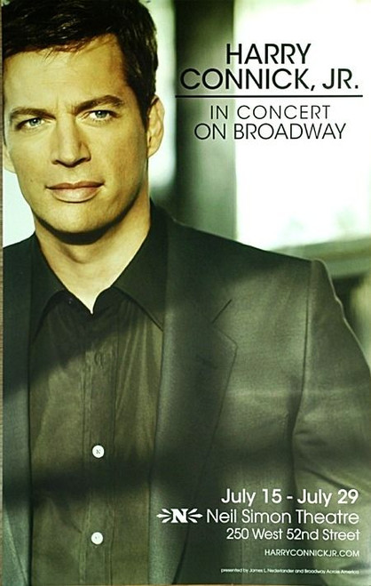 Harry Connick jr in Concert On Broadway (Concert / Musical), Neil Simon Theatre NYC (2010), Poster / Window Card