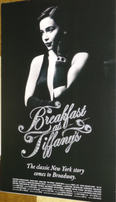 Breakfast at Tiffany's (Play),   Emilia Clarke, Cory Michael Smith, George Wendt, Tony Torn (2013), Poster / Window Card