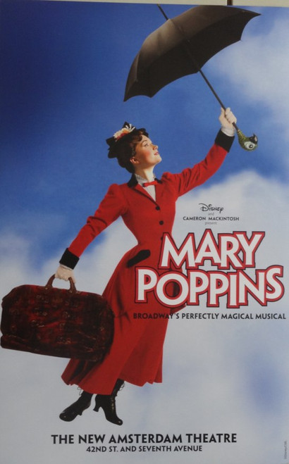 Mary Poppins (Musical) Directed by Richard Eyre - New Amsterdam Theatre, ( Magical Musical Poster Version), Poster / Window Card