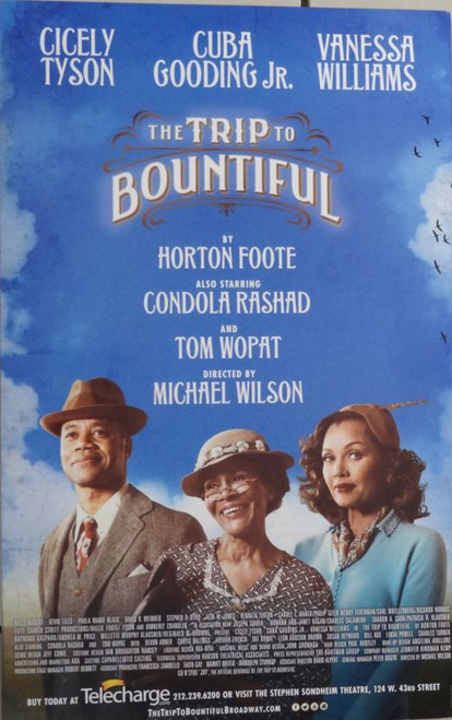Trip to Bountiful (Play), Cicely Tyson,Cuba Gooding, Jr,Condola Rashād,Vanessa Williams,Tom Wopat, Arthur French (2013)
