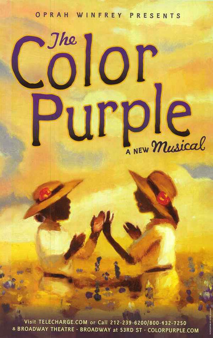 Color Purple (Musical), Music and Lyrics by Brenda Russell, Allee Willis and Stephen Bray, Poster / Window Card