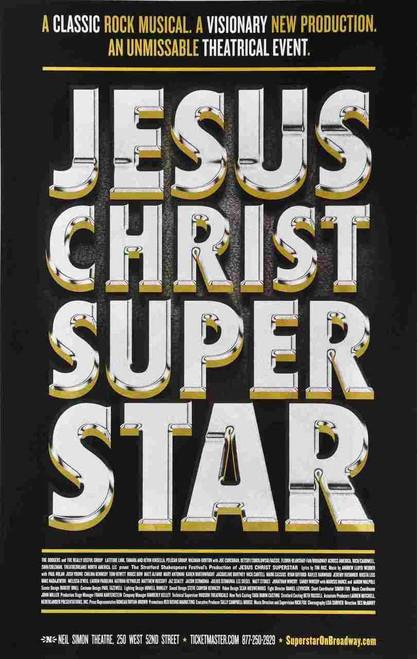 Jesus Christ Super Star (Musical) 2012, Josh Young, Paul Nolan, Matt Alfano, Bruce Dow, Poster / Window Card