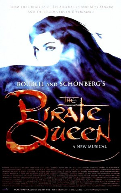 The Pirate Queen (Musical) 2007, Stephanie J Block, Hadley Fraser, Linda Balgord Hilton Theatre, Poster / Window Card