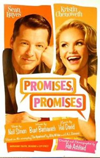 Promises Promises (Musical) 2010, Sean Hayes, Kristin Chenoweth,Tony Goldwyn, Katie Finneran – Broadway's 2010 Season, Window Card / Poster