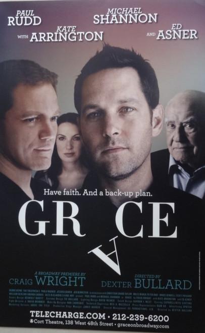 Grace - Starring - Paul Rudd, Michael Shannon, Kate Arrington, Ed Asner, Cort Theatre, Poster / Window Card