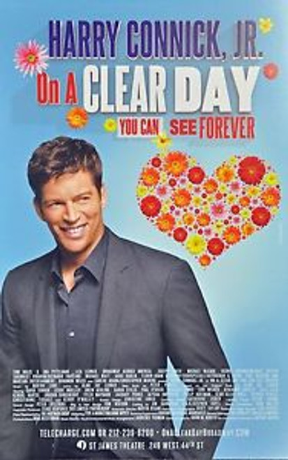 On a Clear Day You Can See Forever (Musical), 2011 Starring Harry Connick Jr,Jessie Mueller,David Turner,Heather Ayers,Benjamin Eakeley, poster, windowcard